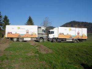 Lastwagen mit Logo