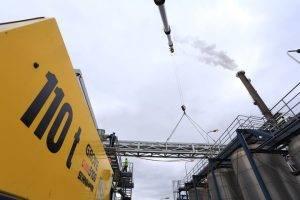 Wendeanlage für ein 63'000 kg Adapterstück