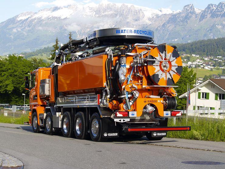 •AquaStar WT: Multifunktionelles Kanalreinigungsfahrzeug, welches zusätzlich über eine innovative Klarwasseraufbereitung verfügt.